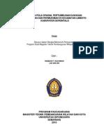 Kajian Pola Spasial Pertumbuhan Kawasan Perumahan Dan Permukiman Dikecamatan Limboto Kabupaten Gorontalo
