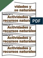 Actividades y Recursos Naturales