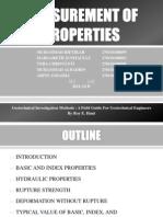 Measurement of Properties