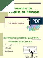 Instrumentos e Técniccas de pesquisa