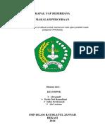 Eksperimen Kapal Uap Sederhana  SMP Islam Raudlatul Jannah Bekasi