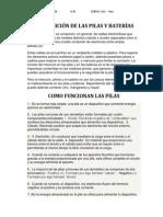 COMPOSICIÓN DE LAS PILAS Y BATERÍAS