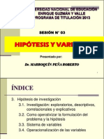 Sesion 3 Hipotesis y Variables