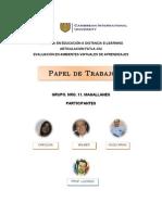 Papel de Trabajo-CIU. Epistemología de los Principios, Valores y Derechos Universales en la Educación Superior E-learning