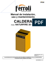 Manual Instruciones NATURFIRE 30 Sept 2012