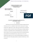 Plaintiffs' Memorandum in Opposition to a Stay Pending Appeal