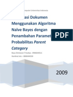 Klasifikasi Dokumen Dengan Algoritma Naïve Bayes dengan Penambahan Parameter Probabilitas Parent