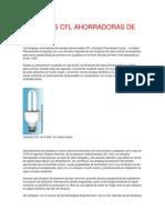 LÁMPARAS CFL AHORRADORAS DE ENERGÍA