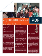 communication department flyer