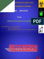 Niveles de Bioseguridad