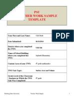 cole pruitt- teacher work sample
