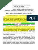 Lettera Apostolica in Forma Di Motu Proprio Fides Per Doctrinam, Benedicto XVI