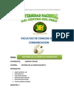 Monografia de Historia de La Radio en Huancayo