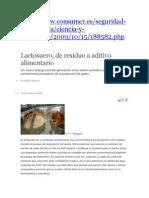 Lactosuero Aditivo y PROTEINAS