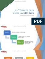 Pasos Técnicos para crear un sitio Web