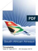 FlySAA Time Table