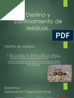Destino y Confinamiento de Los Residuos Mj