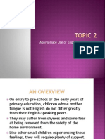 Topic 2 - Appropriate Use of English in Croom