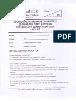 Broadrick Secondary School AMATHS P1 S4
