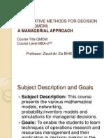 Quantitative methodes