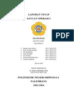 Laporan Tetap - Oil Filtrasi