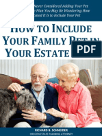 How to Include Your Family Pet in Your Estate Plan