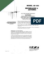 moonraker 4 CB Antenna user manual