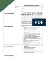 f & b Course Design