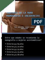 Anatomia de Mama e Incidencias Mamograficas