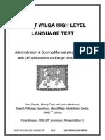 Mount Wilga High Level Language Test (revised) (2006)