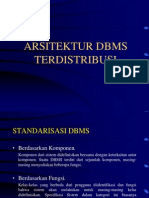 Pertemuan 12 Arsitektur DBMS Terdistribusi