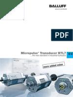 Transdutor Linear de Haste BTL7,