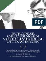 Uitnodiging Guy Verhofstadt en Noël Slangen Woensdag 23 april