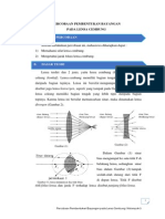 Laporan Praktikum Pembentukan Bayangan Pada Lensa Cembung