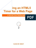 HTML5 Clock Timer Tutorial