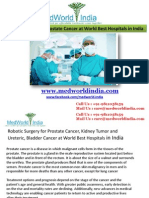 Robotic Surgery for Prostate Cancer at World Best Hospitals in India