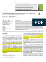 3D hydrodynamics and shear rates' variability in the United States Pharmacopeia Paddle Dissolution Apparatus