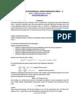 Persamaan Diferensial Linier Homogen Orde 2