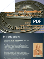 group15-narsimhacommitteereportonfinancialreforms-121110050728-phpapp01