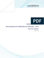 Novas Regras Certificacao Facturacao 2013 - Manual Do Utilizador