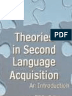Theories and Research of Second Language Acquisition