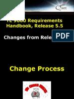 TL 9000 Requirements Handbook Release 5.5 Changes