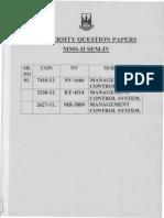 University Papers Mms-II Sem-IV