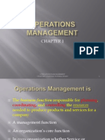 Chapter 1 Operations Madnagement