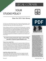 CMT Fine Tune Your Studio Policy