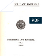 PLJ Volume 1 - Cover & Volume 1 Index