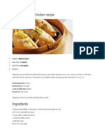 Steamed Ginger Chicken Recipeb Haziah