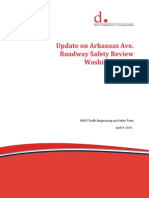 Arkansas Ave Safety Update, April 9 2014