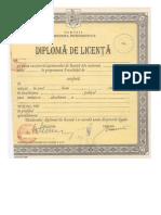 Diploma licentă