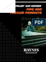 Hastelloy and Hayes Pipe and Tubular Products